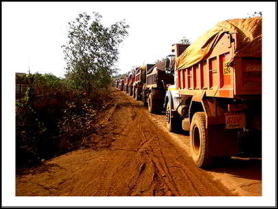 Iron Ore Exports by truck
