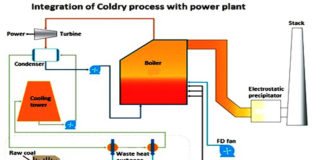 Integration of Coldry process with power plant