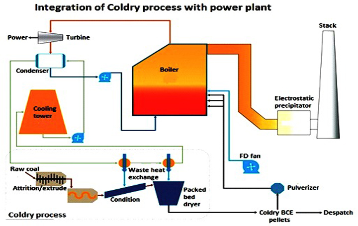 coldry technology for low rank coal drying