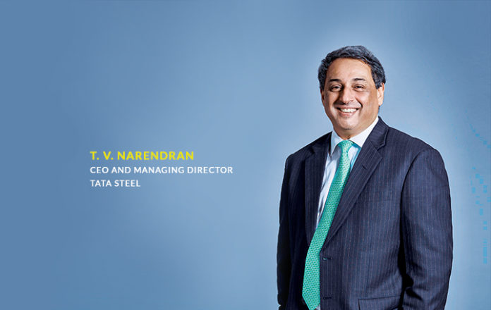 TV Narendran  CEO & MD Tata Steel
