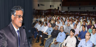 PK Rath, CMD,RINL addressing the senior officers of the plant today in Ukkunagaram.